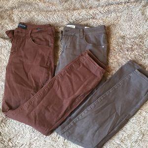 PAC SUN BULLHEAD DENIM TWO PAIRS skinny jeans